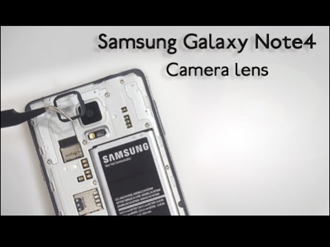 How to replace the cracked Samsung Galaxy Note 4 camera lens & ring in one minute?