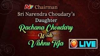 Rachana Choudary - Vishnu Teja Wedding LIVE  Narendra Choudary
