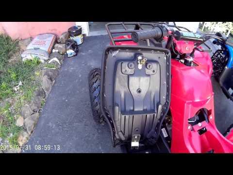Taotao 150cc ATV assembly and starting.