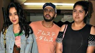 Jhanvi Kapoor Goes On Movie Date With Arjun Kapoor And Anshula Kapoor