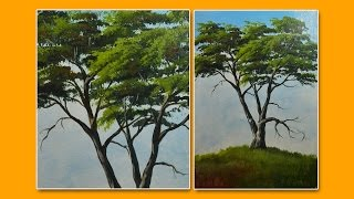 Learn How to Paint a Tree-Acrylic Painting Lesson by JMLisondra