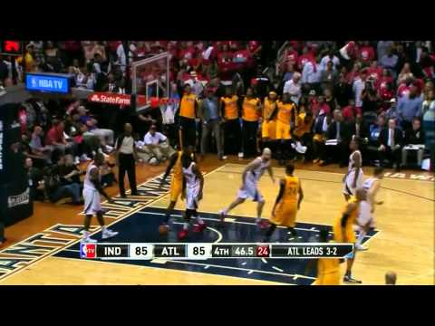 NBA, playoff 2014, Pacers vs. Hawks, Round 1, Game 6, Move 54, David West, 2 pointer