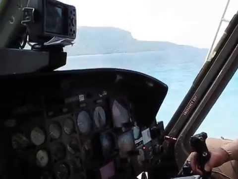 Helicopter take off, Timor Leste