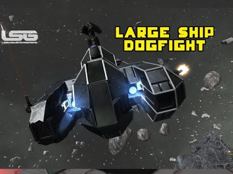 space engineers large ship fighter challenge dogfight