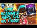 Lagu CUTEST SCAMMER EVER RAPS FOR HEATWAVE... 8 YEAR OLD SCAMMER RAPS ON ROCKET LEAGUE FOR HIS ITEMS