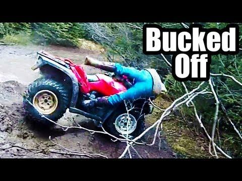 ATV 4x4 Mudding Honda Crash