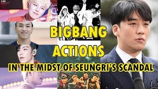 Daesung, Taeyang and TOP's actions in the midst of Seungri's scandal