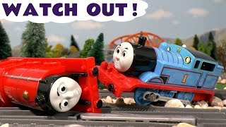 Thomas and Friends Toy Trains Watch Out Compilation of Accidents Stories and Fun - PJ Masks TT4U