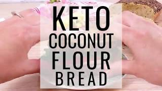 Keto Coconut Flour Bread - only 1.7g net carbs per slice