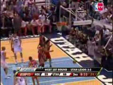 Game 6 round 1 Rockets vs Jazz 2008 Playoffs
