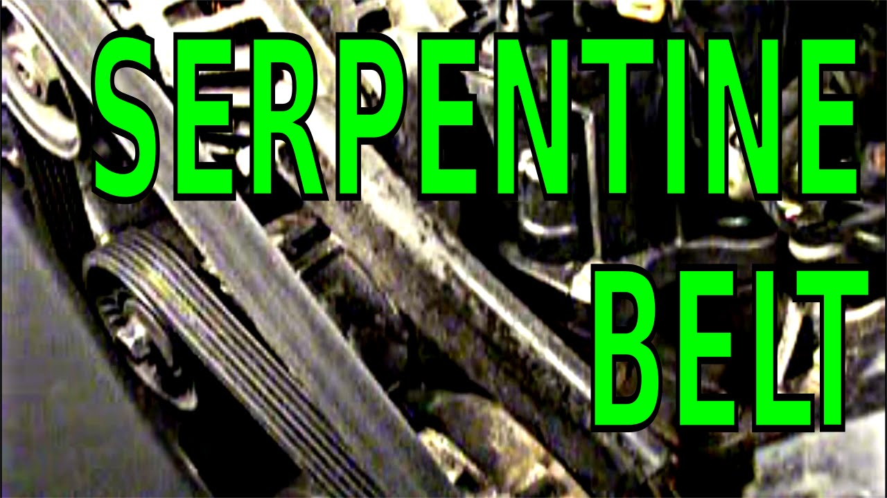 How to replace and fix a SERPENTINE BELT on a GM 3800 V6 3