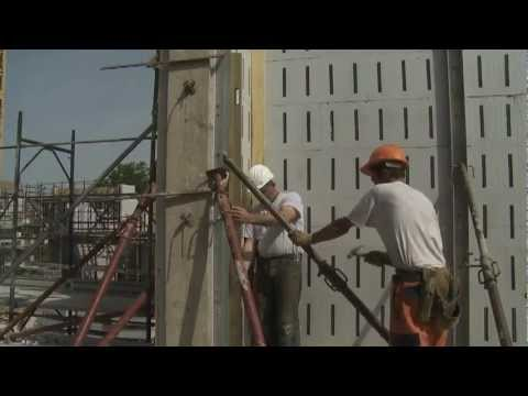 Realizzazione di una parete con i casseri a perdere Climablock