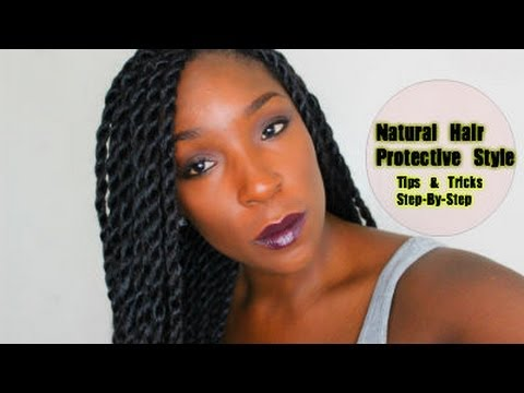 PROTECTIVE STYLE FOR HAIR GROWTH RETENTION: Senegalese. Havana. Marley Twist Tutorial HD