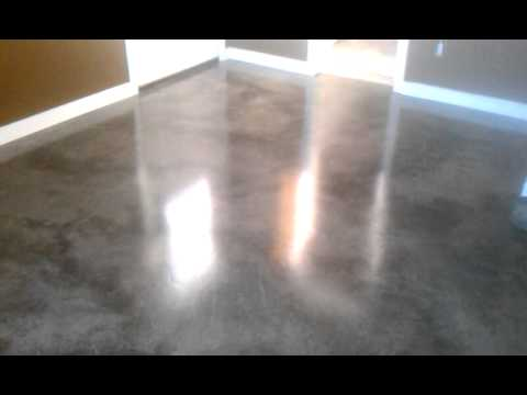 re create stained concrete floor gray youtube. Black Bedroom Furniture Sets. Home Design Ideas