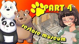 We Bare Bears | Match3 Repairs | (#4) | Restore Area Around the Museum | Part 1