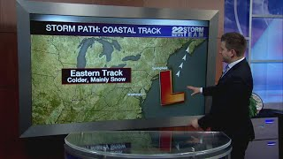 Wintry mix storm heading into western Massachusetts Tuesday