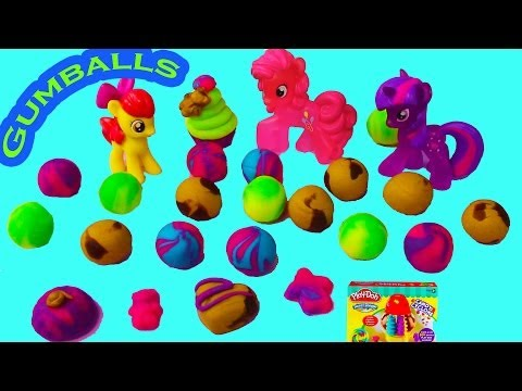 MLP Pinkie Pie Twilight Play Doh Gumballs Candy Cyclone Maker Chocolates Cupcakes Machine Toy Review