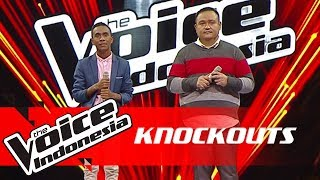 Ronald vs Robin | Knockouts | The Voice Indonesia GTV 2018