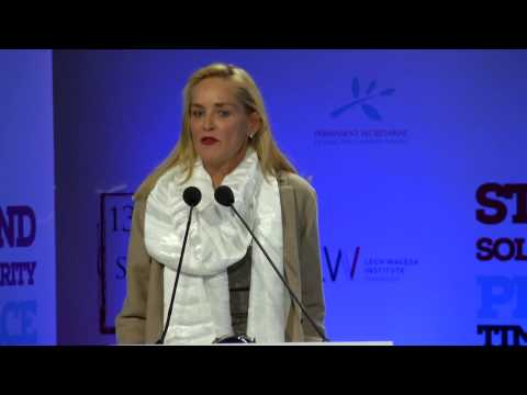 Sharon Stone - The Peace Summit Award 2013