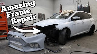 Body Shop DESTROYED the Frame on my Focus RS. Here's How We Fixed it Like NEW!