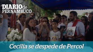 Cec�lia Ramos se despede do marido, Carlos Percol.