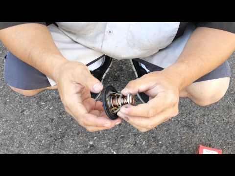 DIY How to Replace / Change Honda Accord Coolant Thermostat