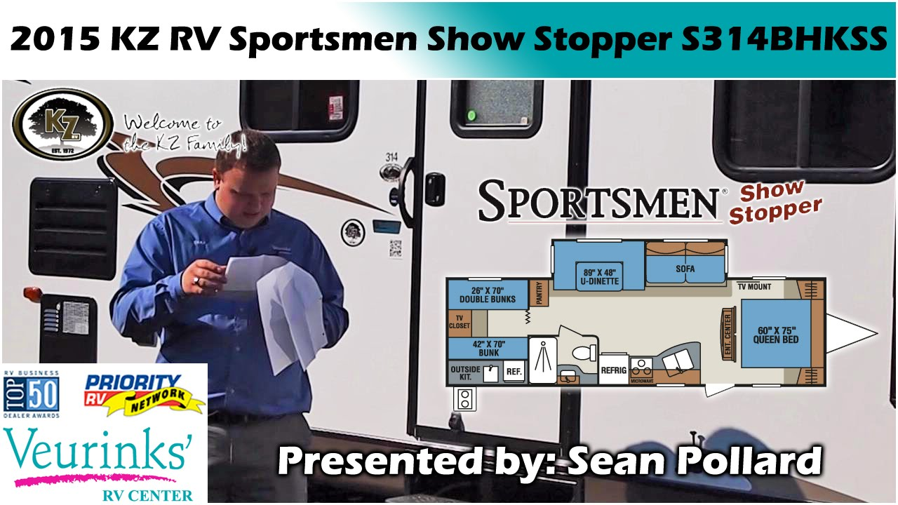 Amazing KZ RV Sportsmen Show Stopper S314BHKSS New Bunk House