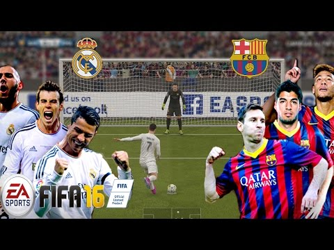 FIFA 16 Gameplay  - Sera la revancha del Real ? - Barcelona vs Real Madrid el Clásico
