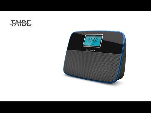 TAIDE BT034 $16 Bluetooth Speaker LCD Display FM Radio 2*3W