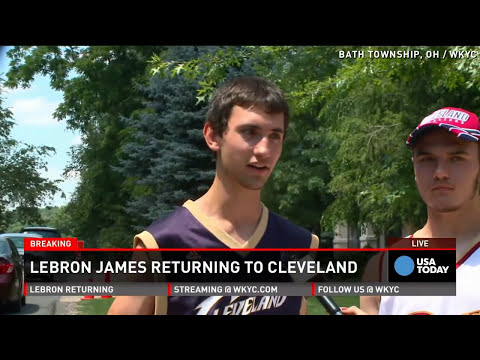 LeBron James' fans 'so pumped that he's back'