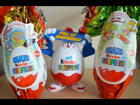 Kinder Surprise Maxi Egg Looney Tunes HUGE EGG kinder Sorpresa Easter Egg