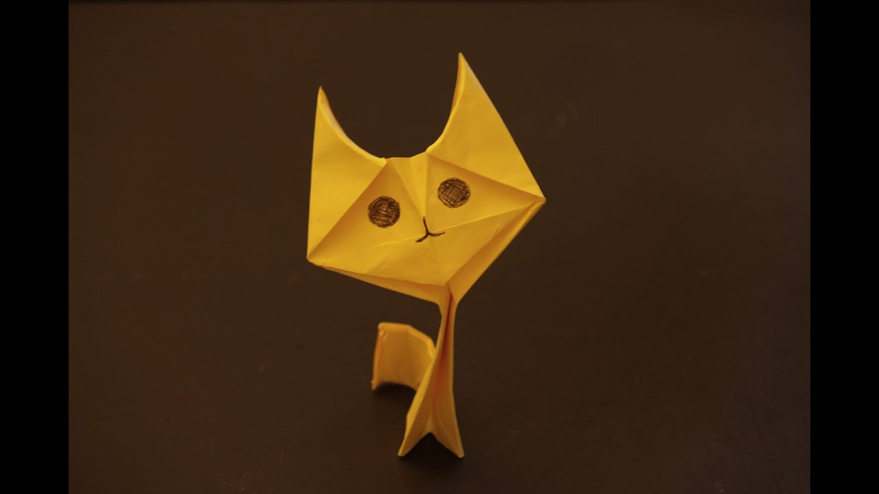 How to make a cool cat origami: instruction| Kitten - YouTube - photo#9
