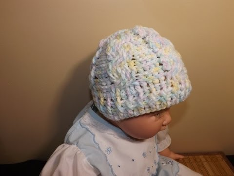 Crochet Gorro De Trenzas Para Bebe'