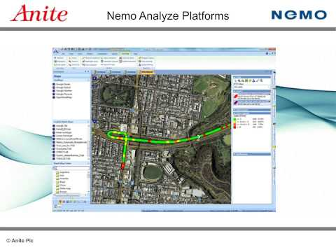 Nemo Analyze - professional post-processing of drive test data