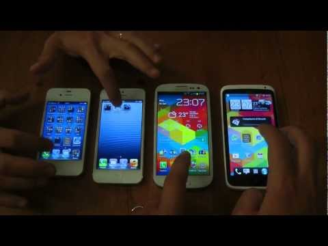 iPhone 5 vs One X Galaxy S3 e 4s comparativa by HDblog