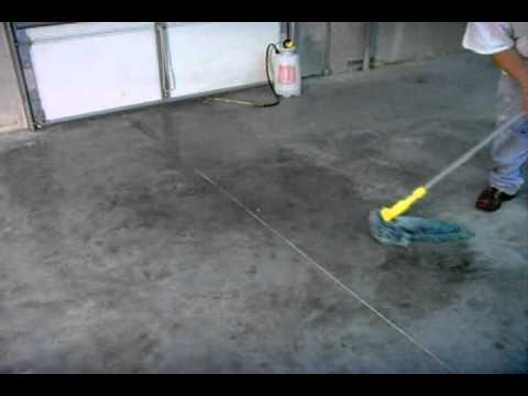 How to apply concrete sealer to a smooth surface www for How to clean sealed concrete floors