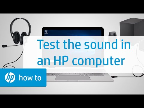 Test the Sound in an HP Computer | HP Computers | HP