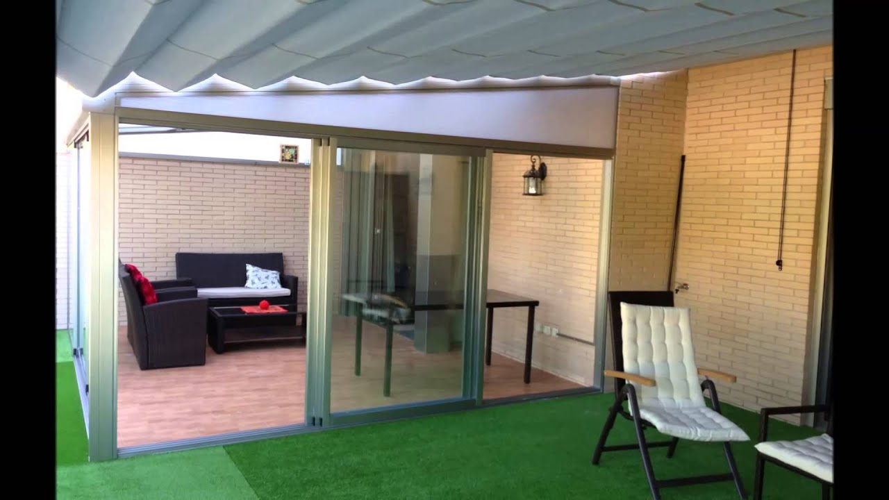 Techo movil policarbonato 66 carpinteria aluminio toldo for Casas de madera jardin leroy merlin