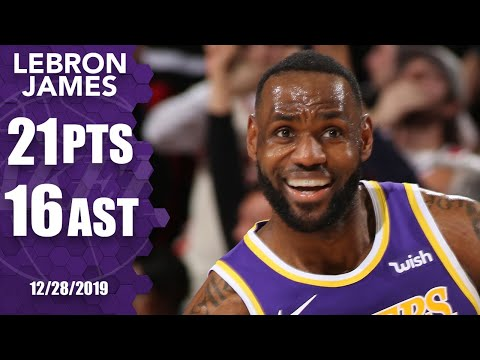 LeBron James puts up impressive double-double on road vs. Trail Blazers | 2019-20 NBA Highlights