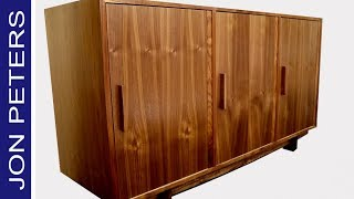How to Make this Mid Century Modern Inspired Cabinet, Free Plans