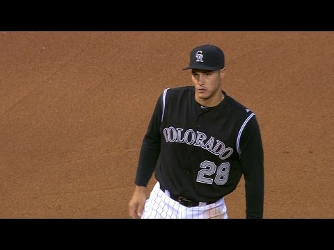 Arenado turns a remarkable double play