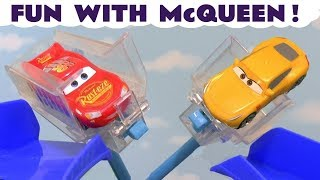 Disney Cars Toys Fun with McQueen and superheroes cars TT4U