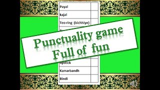 Incredible Punctuality Game for karwa Chauth party // Karwa chauth Special Punctuality game