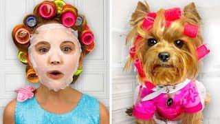 Sasha Make up her Dog and wants go to The Disco