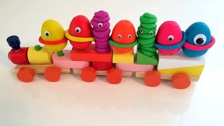 Play Doh unboxing surprise train тачки lalaloopsy slimy figures паровозик