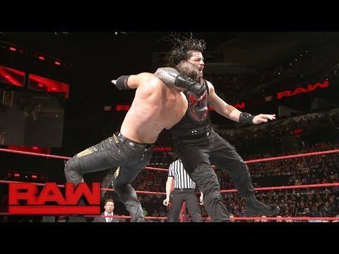 Roman Reigns vs. The Miztourage - 1-on-2 Handicap Match: Raw, Jan. 15, 2018