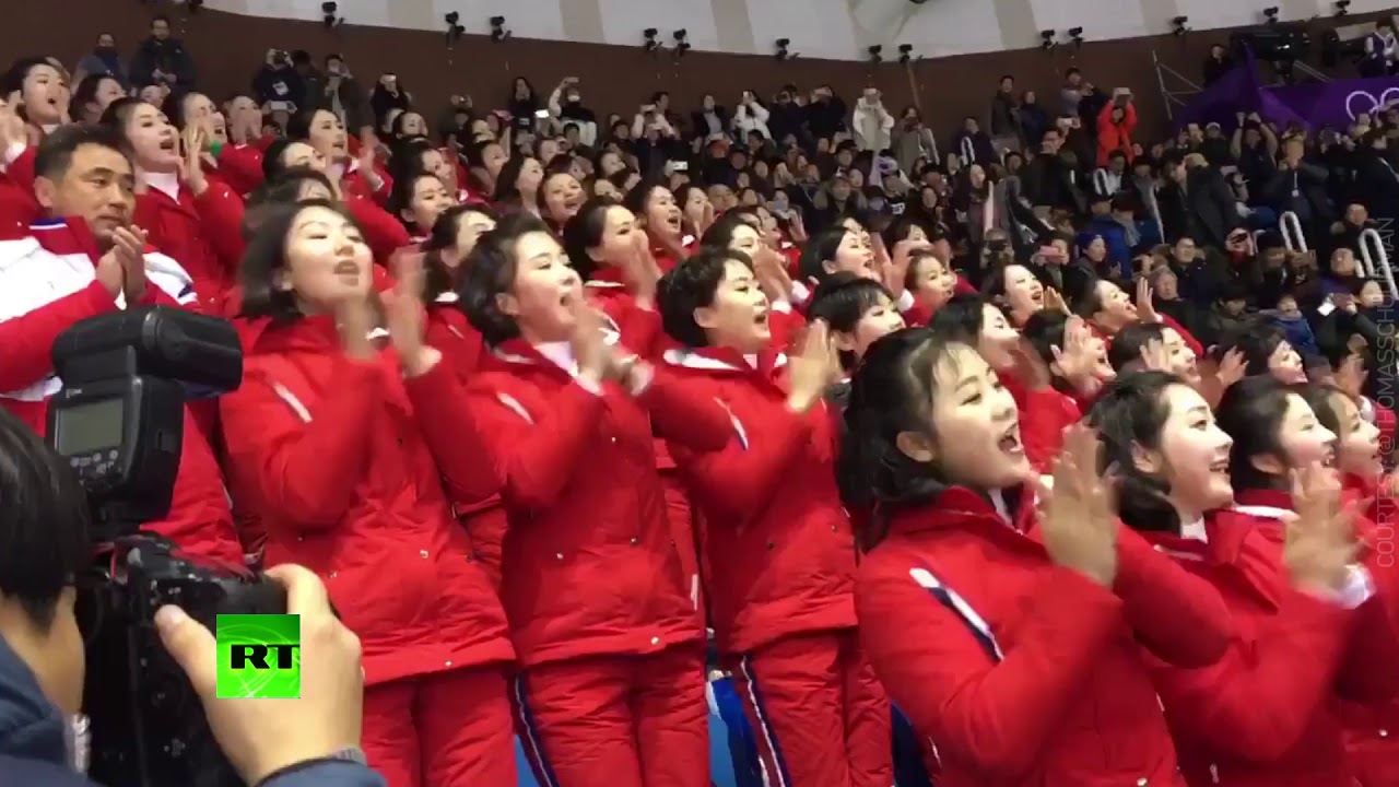 North Korean cheerleaders stealing the show at Winter Olympics