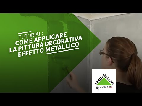 pittura perlata per pareti : Pittura decorativa stile metal - YouTube