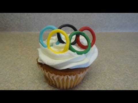 Decorating Cupcakes  Olympics (Olympic rings, torch and medals)