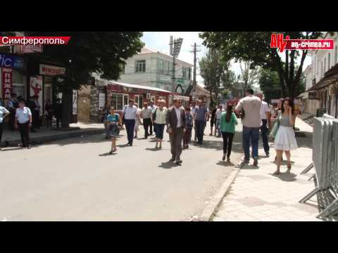 Снос рынка на улице Козлова в Симферополе
